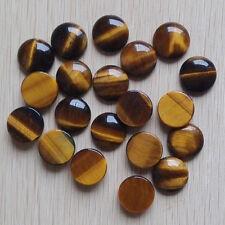 2016 Fashion tiger eye stone round CAB CABOCHON beads 30pcs wholesale 20*20mm