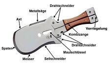 Spaten Outdoor Überlebenswekzeug Multifunktion Machete Messer Säge (Russland)