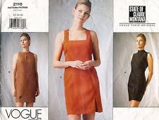 VOGUE Paris Original Claude Montana Misses' Dress Pattern 2110 12-16 UNCUT