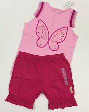 Naartjie Jiejie NWT 10 Years Pink Wings Tank Top Lace Trim Shorts Outfit Set