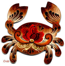 .Christmas Crab Ornament, Handpainted, Autographed by Artist, FREE SHIPPING