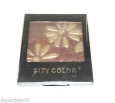 City Color Eyeshadow Compact Mirror & Applicator Included Brown Sealed