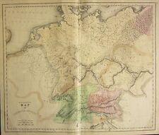 1850 LARGE HAND COLOURED MAP ~ GERMANIA ANTIQUA ~ NORICUM GONDIONES
