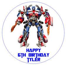 1 x Transformers Optimus Prime 19cm round personalised cake edible image topper