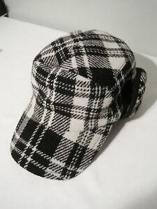 $128 SAKS FIFTH AVENUE HARRIS TWEED WOOL HAT CAP SIZE M 57 MADE IN ITALY NWT