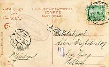 "1914 Egypt Port-Said Cover Den Haag Netherlands Sea Post SS ""Samaranda"" postcard"