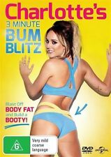 CHARLOTTE'S 3 Minute BUM BLITZ DVD NEW RELEASE HEALTH WEIGHT LOSS FITNESS R4