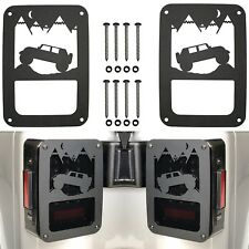 PAIR Jeep Mountains Tail Light Covers For 2007-2018 Jeep Wrangler JK New USA