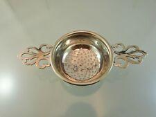 PLAIN PIERCED HANDLE TEA CUP STRAINER SILVER PLATE BY BIRKS 1/155
