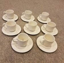 Set of 8 Gibson China White Grape Vine Tea Cups And Saucers