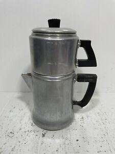 Vintage Wear-Ever 2 Cup Drip-O-Lator Aluminum Coffee Pot #3042