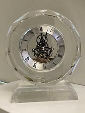 London Clock Company Glass Skeleton Mantel Clock 05108