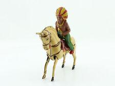 Blechspielzeug - Köhler Indianer auf Pferd tin horse Made in US Zone Germany