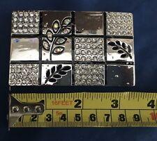 Flower and Diamante Belt Buckle Metal Brand New Unworn Unused