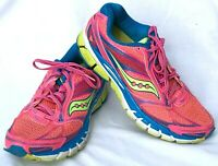 Saucony Women's Guide 8 Size 8.5 Pink Blue Lime Running Training Shoe S10256-4