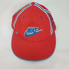 Vintage Nike Air SpellOut Strapback Adjustable Hat Red White Blue Stripes