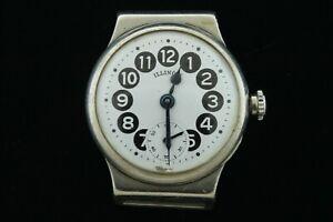 Vintage Illinois Telephone Dial Watch - Nickel Case