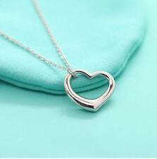 Kette mit Herz Anhänger Silber Halskette Herzkette Liebe Love Bijou Valentinstag