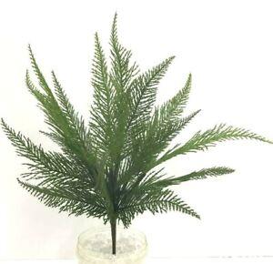 "Fern Greenery Bush~Green~PVC/Artificial~16"""