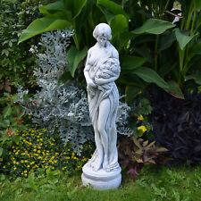 Massif Pierre Statue Femme Motif Printemps Antique en Fonte Résistant au Gel