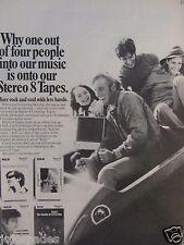"1969 RCA 8 Track Tapes Original Print Ad-Original Broadway Cast Off HAIR-9 x 11"""
