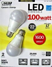 New Feit LED Dimmable 17W/100W Replacement Omni 1600 Lumen 2 Pack BPCEOM100/2