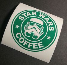Star wars coffee storm trooper decal sticker jdm car stance decal buy2 get 1free