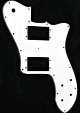 NEW 72 Tele Deluxe Pickguard WHITE HH 3 Ply for USA Fender Telecaster Guitar