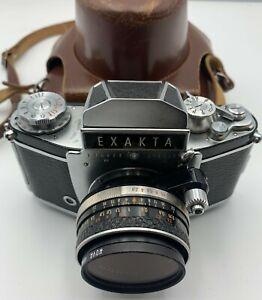 Vintage Exakta 35mm Film Camera in Case