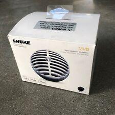 Shure MV5 Digital Condenser Microphone w/ USB, Lightning Black MV5/A-B-LTG