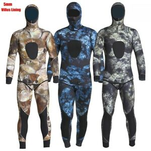 5MM Neoprene Wetsuit Men Surfing Swimming Diving Suit Camouflage Warm Full-body