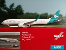 Herpa Wings 1:500 533799  Air Dolomiti Embraer E195 - new 2019 colors