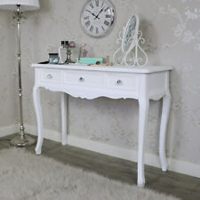 white wooden ornate console dressing table shabby french chic bedroom furniture