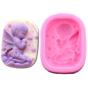Engel natürliche Seife Handgemachte Seifenform Silikon Kuchen Eis Modellier M8G8