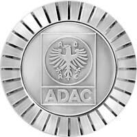 Original 1974 ADAC Kühlergrill Relief Metall Plakette Medaille Halter Schrauben