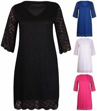 Lace V Neck Plus Size Casual Dresses for Women