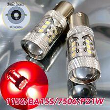 Rear Turn Signal Light 1156 BA15S 3497 1141 7506 P21W 80w LED Red Bulb W1 Euro E