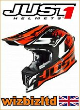 JUST1 MX Helmet J12 Carbon - DOMINATOR Orange - Large JUS103L
