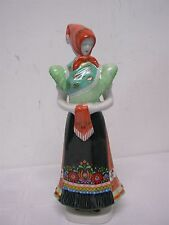 """VINTAGE HOLLOHAZA HUNGARY LOVELY LADY FIGURINE ~ 11 1/2"""" EXCELLENT CONDITION"""