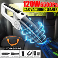 120W Portable Wet & Dry Car Vacuum Cleaner Handheld Vaccum With Storage Bag