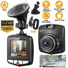 Car DVR Dash Recorder Video Camera 2.4'' LCD FHD 1080P Cam Sensor Night Vision