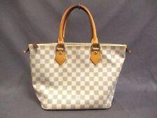 Authentic LOUIS VUITTON Damier Saleya PM N51186 Azur Handbag VI0077 w/ Box