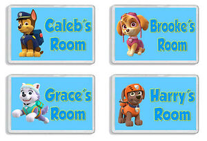 Personalised Paw Patrol Kids Door Plaque -Childrens Bedroom *SIZE = 9.5 x 6.5cm*