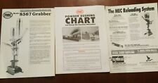 Original Mec Model 8567 Grabber Reloading Manual/guide shootshell