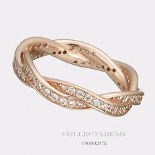 Authentic Pandora Silver PANDORA Rose Twist of Fate Ring Size 9 180892CZ-60
