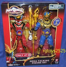 "Power Rangers Mystic Force Red Ranger & Solaris Knight 12"" New Mega Talking Set"