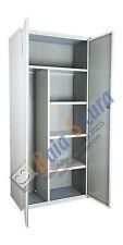 Armadio Portascope Bianco Metallo Detersivi Scope Metallico 180 80 Acciaio
