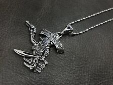 1% ER Outlaw Biker Pendant Fat Mexican Necklace for Harley Davidson Bandido TP77