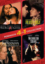4-In-1 Romance Collection: The Scarlet Letter / Washington Square / Jeff * NEW *