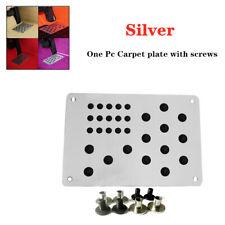 Universal Aluminum Alloy Car Floor Mat Carpet Heel Plate Foot Pedal Rest & Screw